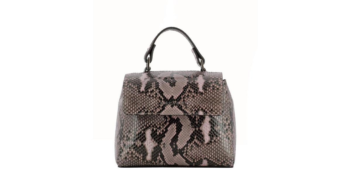fe3b1950f4fc Lyst - Orciani Women s Grey Leather Handbag in Gray