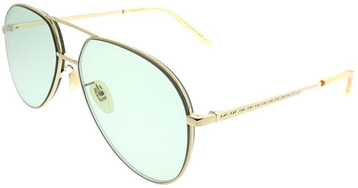 28a26b38fd Gucci - Metallic Gg0356s 004 Gold Aviator Sunglasses - Lyst