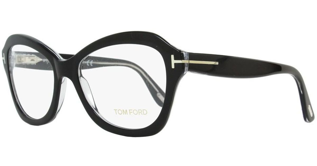 ba88a73ee4a9c Lyst - Tom Ford Butterfly Eyeglasses Tf5359 003 Size  53mm Black crystal  Ft5359 in Black