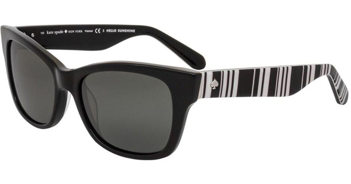 e1e781ce5d7 Lyst - Kate Spade New York Women s Alora p s 53mm Polarized Sunglasses in  Black