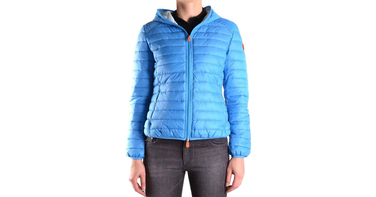 Lyst - Save the duck Women's Light Blue Polyamide Down Jacket in Blue