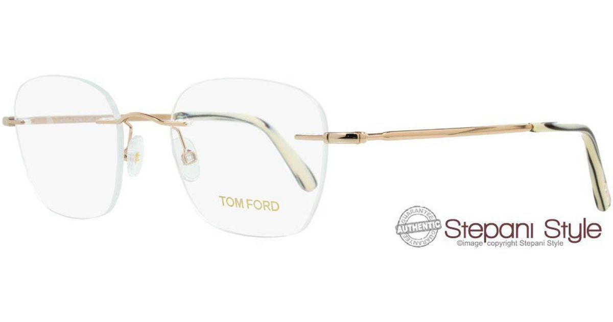6d84e64f0d8 Tom Ford Rimless Eyeglasses Tf5341 028 Size  49mm Rose Gold 5341 in White  for Men - Lyst