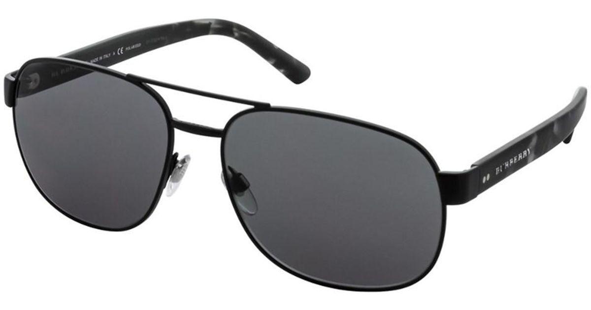 06c60d06dda Lyst - Burberry Men s Be3083 59mm Sunglasses in Black for Men