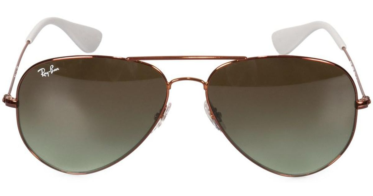 53032c1acd Lyst - Ray-Ban Aviator Sunglasses Rb3558 9002e8 58 in Brown