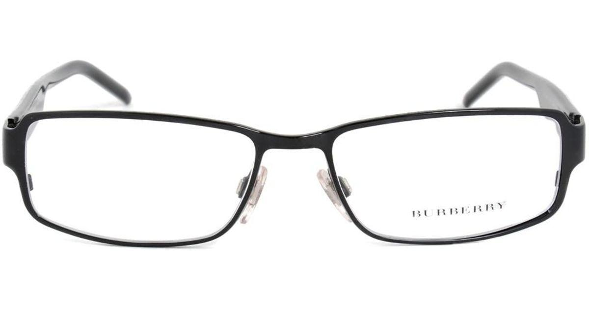Lyst - Burberry Be1195 1001 Rectangular | Black/striped Grey ...