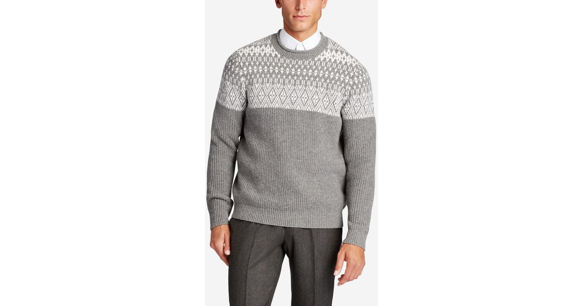 Bonobos Lightweight Wool Crew Neck Sweater in Gray for Men | Lyst