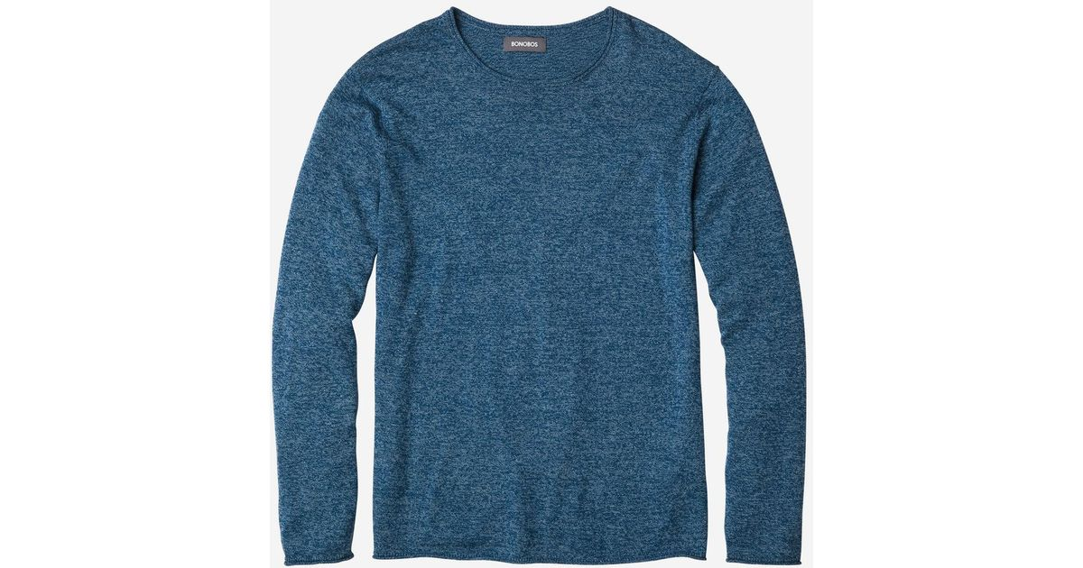 58524dfeac22 Lyst - Bonobos Cotton Cashmere Roll Neck Sweater in Blue for Men