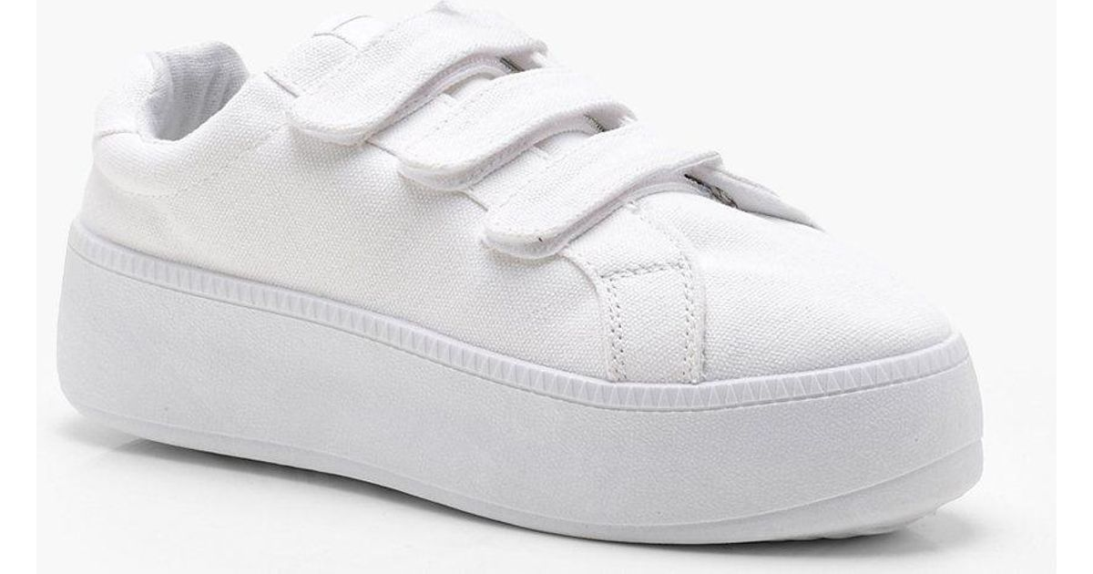 Lilly Velcro Platform Trainers