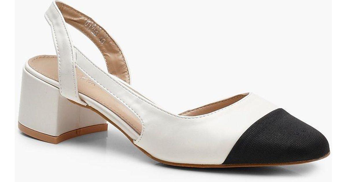 Sling Back Low Block Heel Ballets Gran Descuento nVnUMSpW