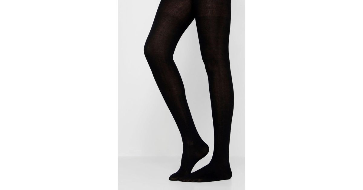 f900e801dc3b0 Lyst - Boohoo Luxury 150 Denier Tight in Black