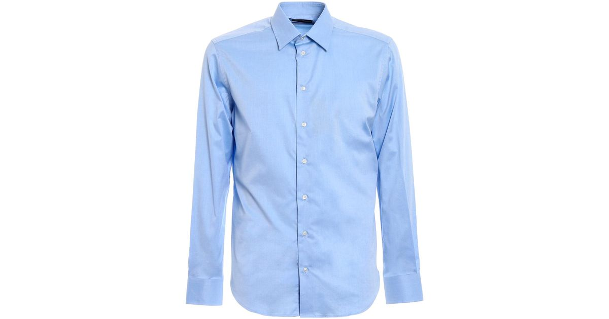 official photos cc6d2 85ec3 Emporio Armani - Blue Camicia for Men - Lyst