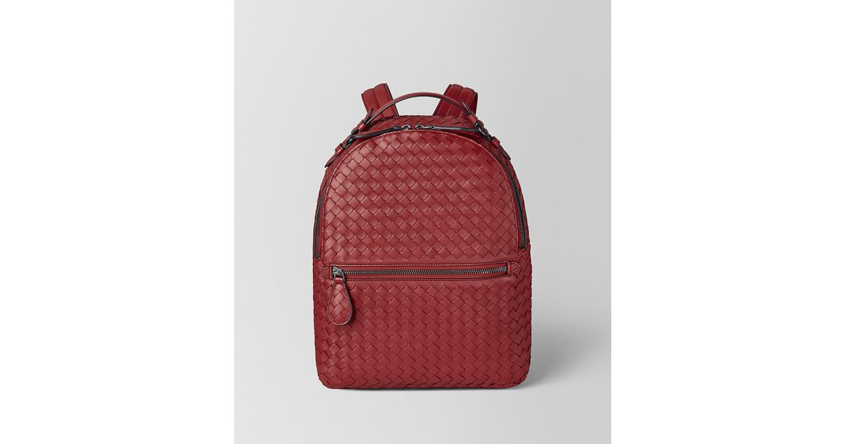 398365754607 Lyst - Bottega Veneta Backpack In Intrecciato Nappa in Red - Save 19%