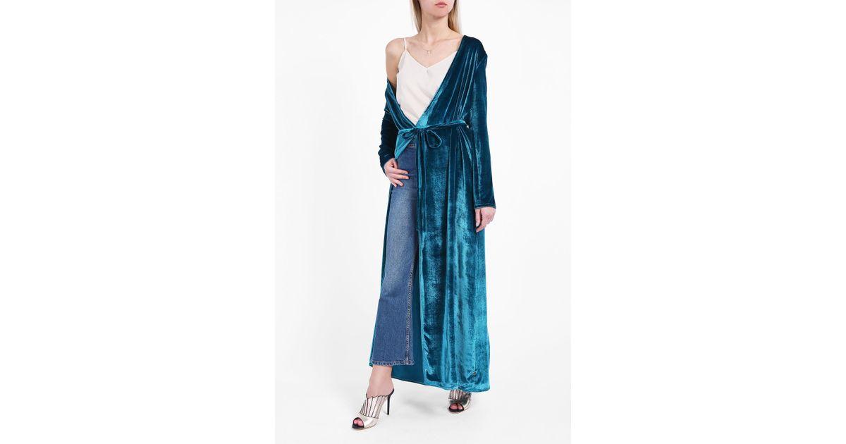 Lyst Attico Raquel Robe Dress In Blue