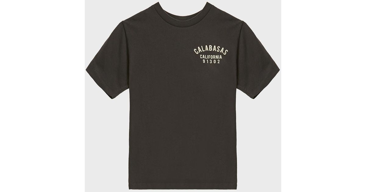 56fa47b0 Yeezy Calabasas Badge Cotton T-shirt, Size M, Men, Black in Black for Men -  Lyst