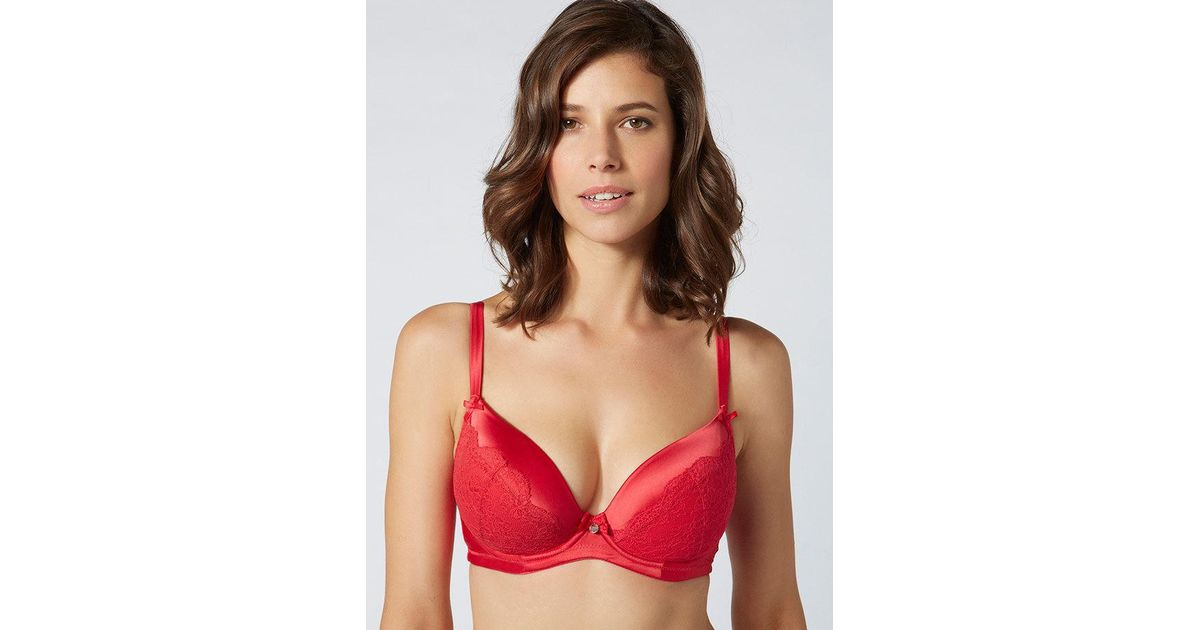 9b561b287965e Lyst - Boux Avenue Samantha Full Support Plunge Bra in Red
