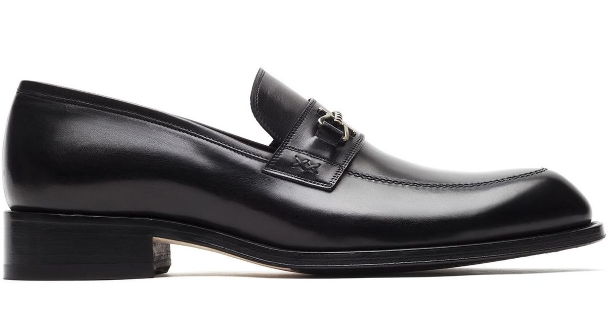 8acc5c06ec Lyst - Brioni Black Loafer With Metal Detail in Black for Men