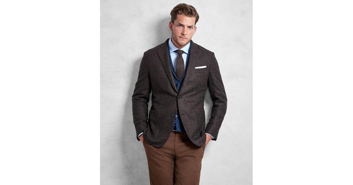 0914d954b24 Lyst - Brooks Brothers Golden Fleece® Brown Rust Texture Sport Coat in Brown  for Men