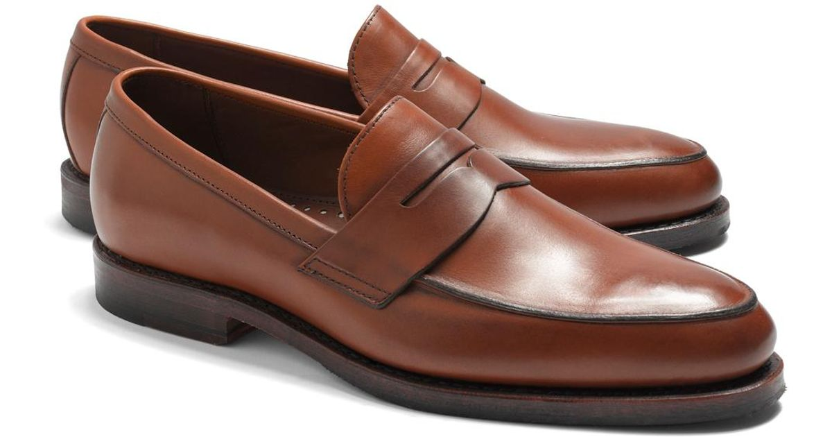 c4dff87b048 Lyst - Brooks Brothers Penny Loafers in Brown for Men - Save 5%