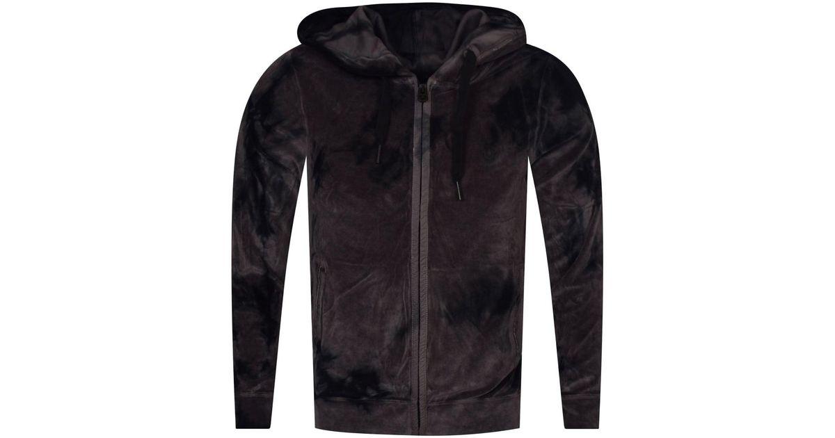5f19e0261 True Religion Black Velvet Camo Hooded Jacket in Black for Men - Lyst