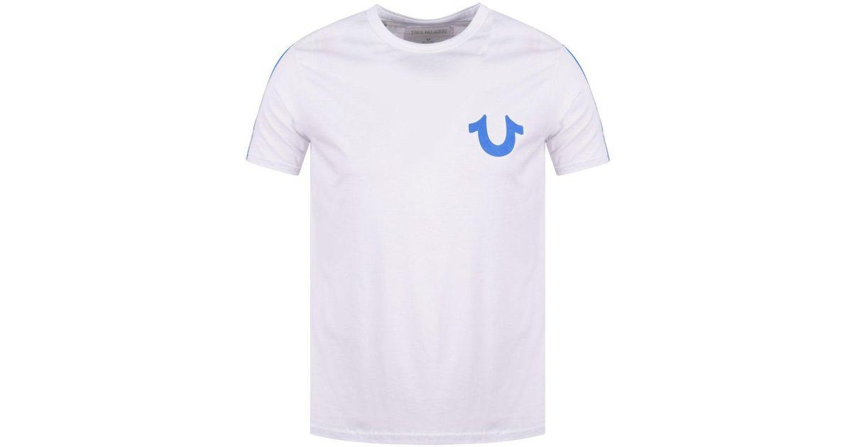 4d0f9d6d Lyst - True Religion White/blue Horseshoe Logo T-shirt in White for Men