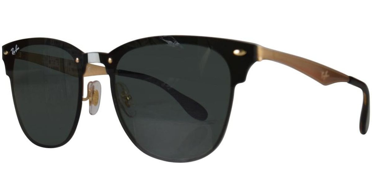 d2a505d916e ... coupon code lyst ray ban ray ban black gold wayfarer sunglasses in black  for men a2d9f
