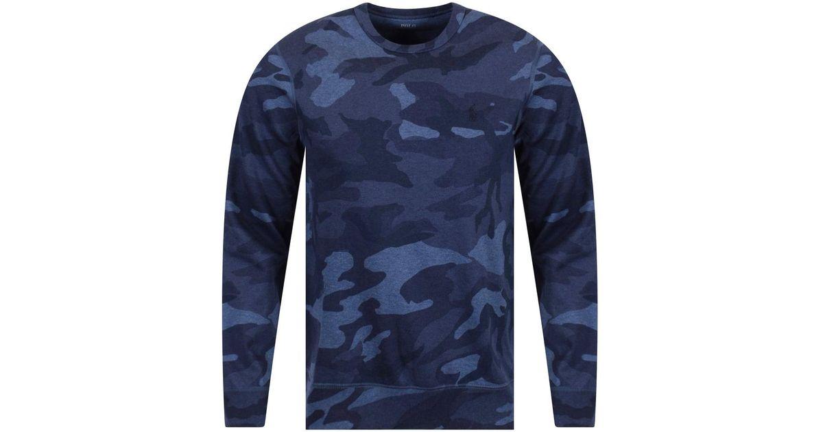 Ralph Camo Blue Sweatshirt For Lauren Men Polo Lyst Aj54RL
