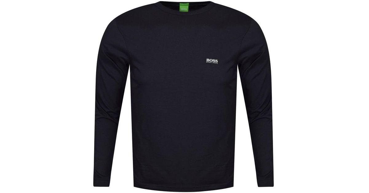 b52114b4b Lyst - BOSS Athleisure Hugo Boss Green Togn Long Sleeved Navy T-shirt in  Blue for Men