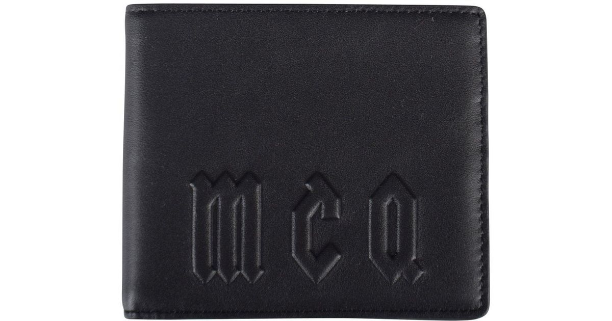 5fd5466a073d Lyst - Mcq Alexander Mcqueen Black Large Logo Leather Wallet in Black for  Men