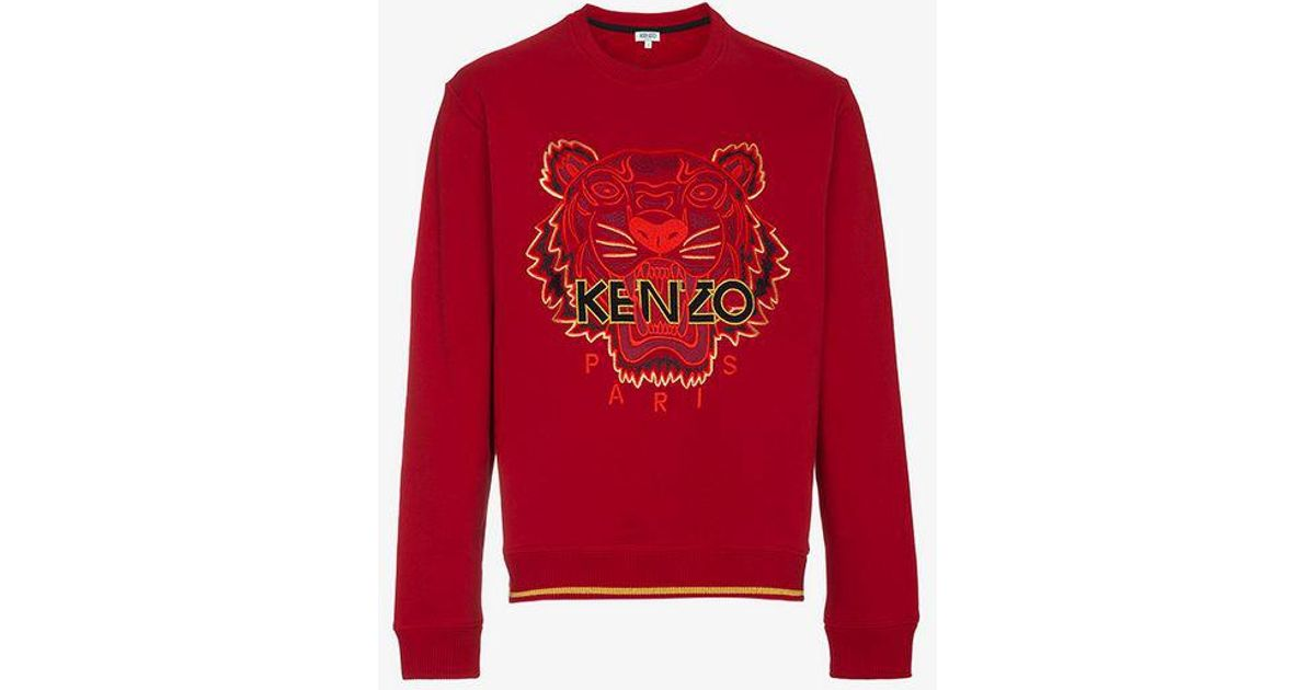 0b5ead24d6c KENZO Red Chinese Ny Capsule Collection Tiger Sweatshirt in Red for Men -  Lyst