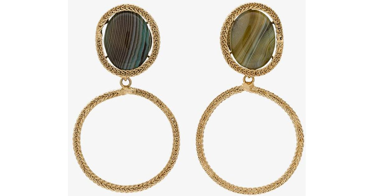 gold-tone and green Scarabeo clip earrings - Metallic Rosantica D8Gi9f3V