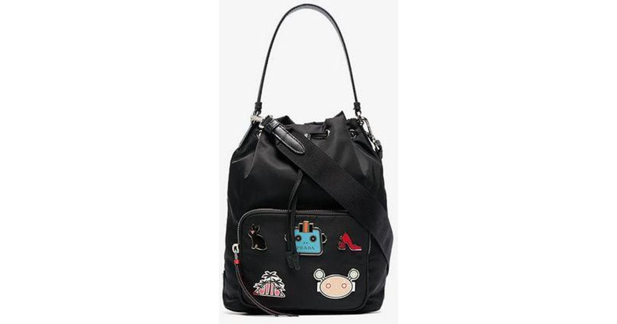 e3efad793dec ... get lyst prada nylon shoulder bag in black f73c1 200f9
