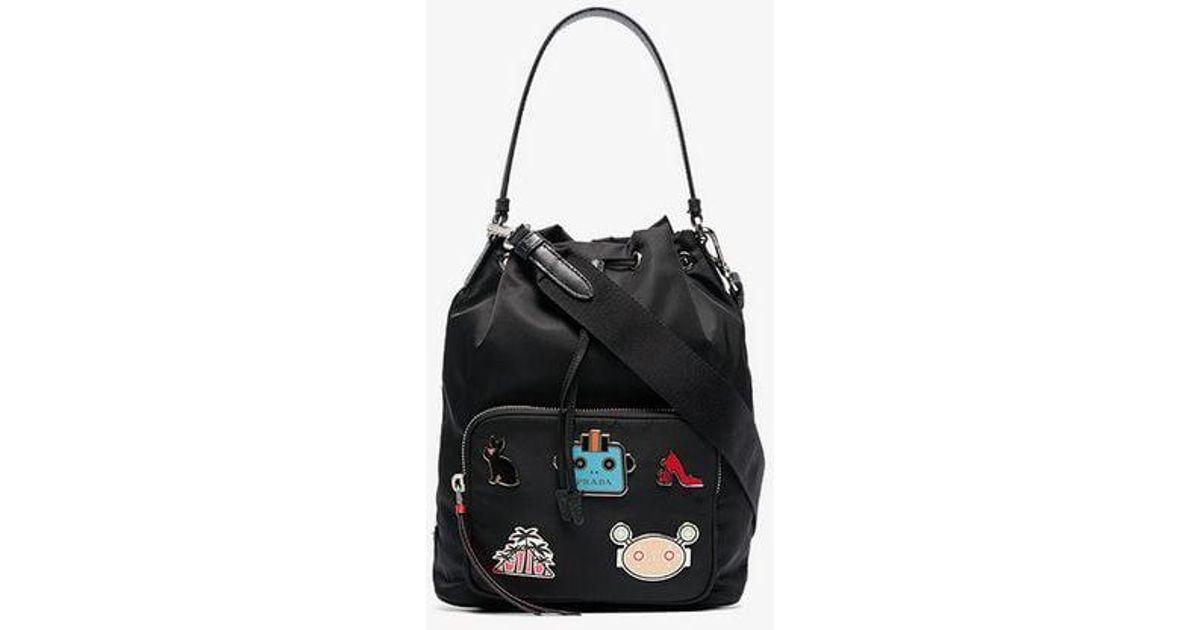 e3efad793dec ... get lyst prada nylon shoulder bag in black f73c1 200f9
