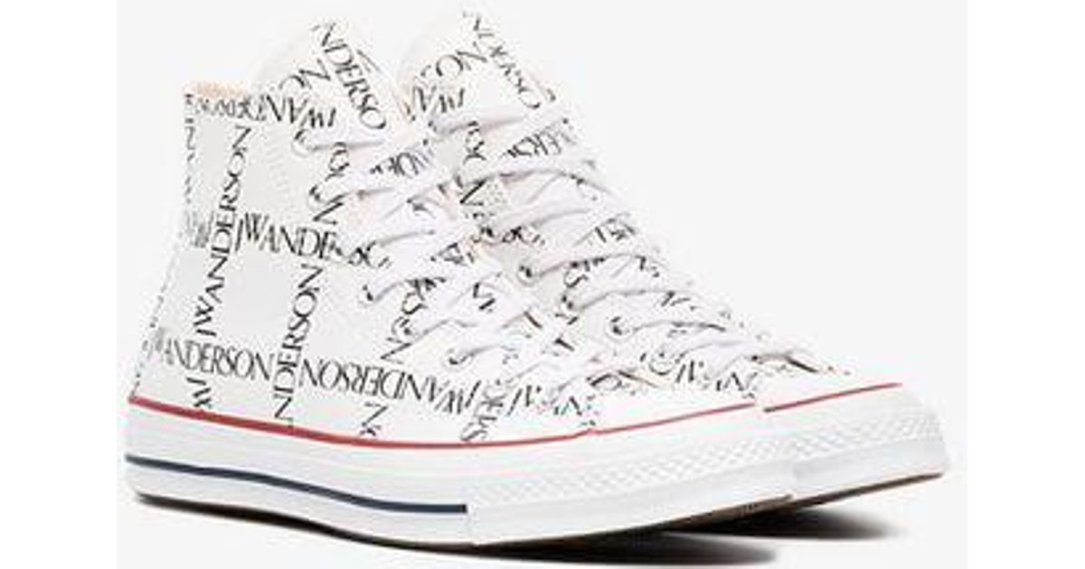 Lyst - Converse X Jw Anderson White Logo Print Sneakers in White for Men 90860176d