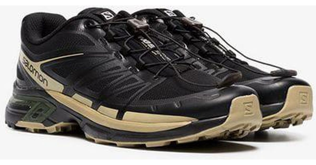 0ac46f448dc9 Lyst - Salomon S LAB X The Broken Arm Black And Gold Metallic Slab Wings Pro  Sneakers in Black for Men