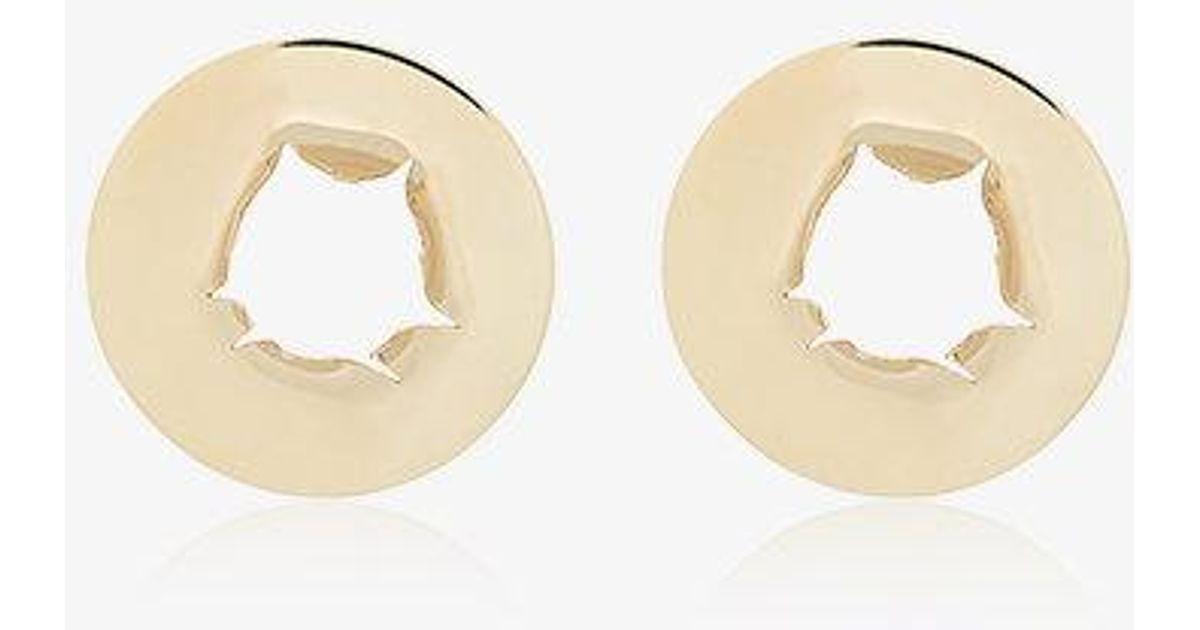 18k Yellow Gold Bullet hole earrings All_Blues E5z39k