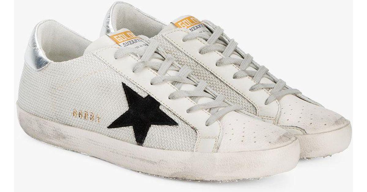 Golden Goose Deluxe Brand White Black Superstar Mesh Sneakers Lyst