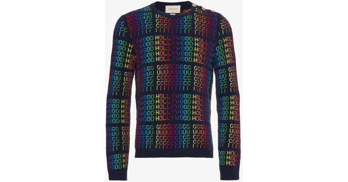 e6ecec247f0bfe Gucci Hollywood Jumper in Blue for Men - Save 50% - Lyst
