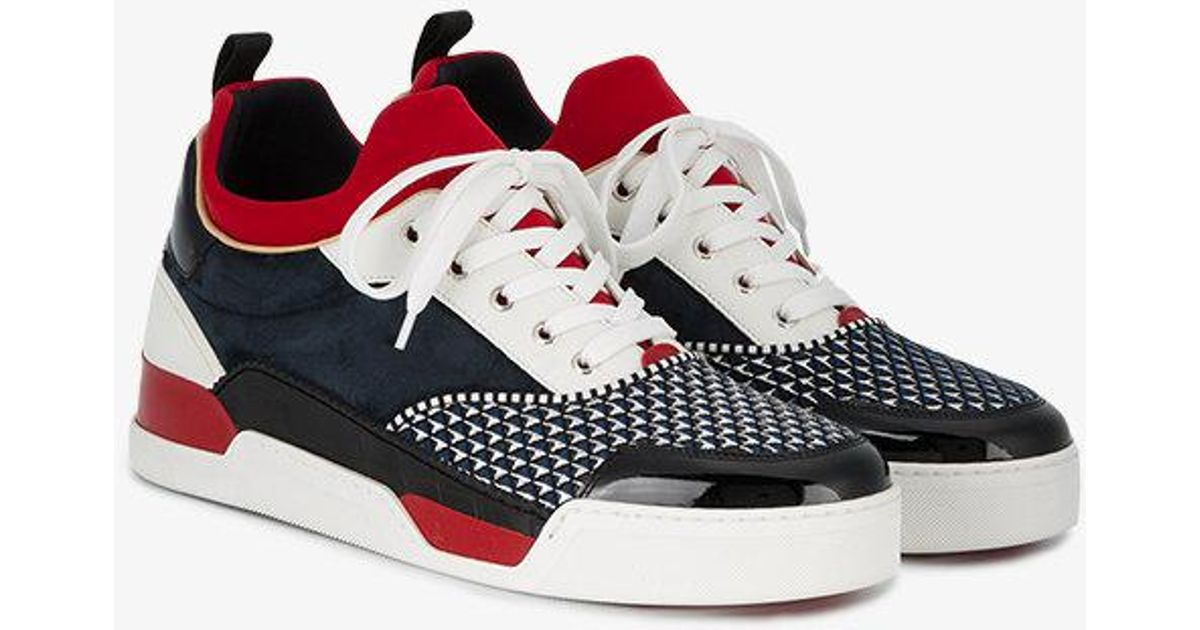 1bba524066d Christian Louboutin Aurelien Sock Sneakers in Black for Men - Lyst