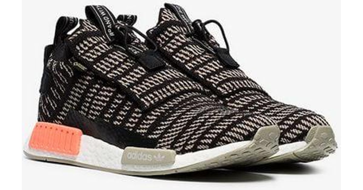 d852a203cd68ce Lyst - adidas Black And Beige Nmd Ts1 Primeknit Gtx Sneakers in Black for  Men