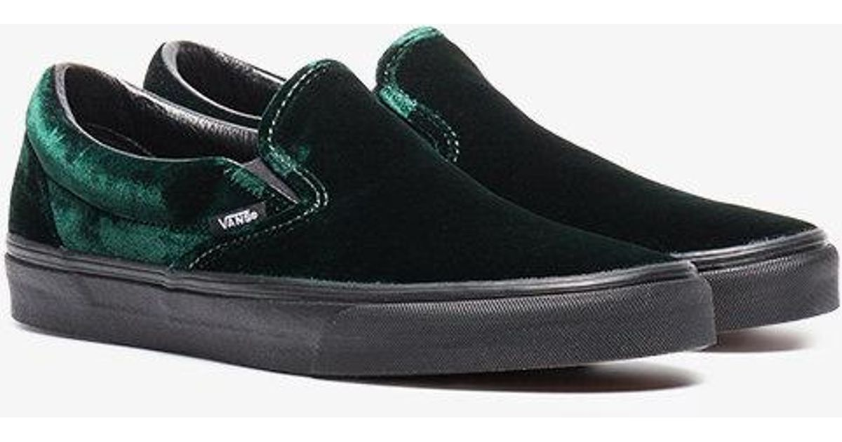 cb522ba9e53b0d Vans Velvet Classic Slip-on Shoes in Green for Men - Lyst