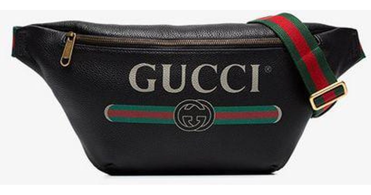 e3637a8ebe35 Gucci Print Mini Belt Bag in Black for Men - Lyst