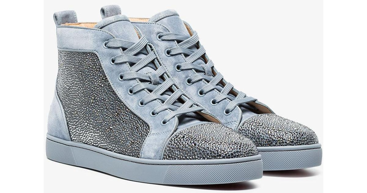 grey Orlato rhinestone suede high-top sneakers Christian Louboutin gZ3wSnABc
