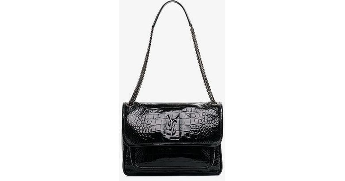 6b2fdda3aeec Saint Laurent Niki Shoulder Bag in Black - Lyst