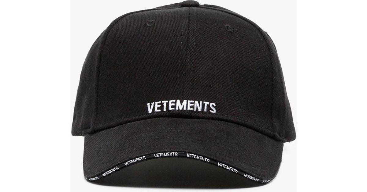 Vetements Logo Cap in Black - Lyst b257afc7d2b