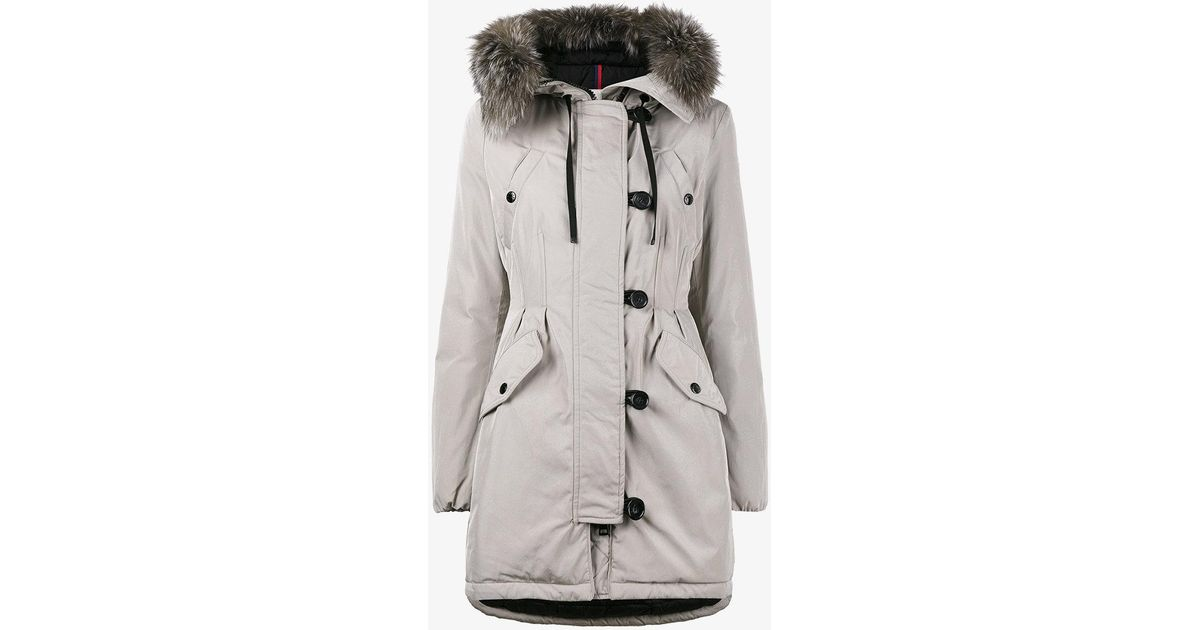 c28bf04374b9 Moncler Aredhel Parka Coat in Natural - Lyst