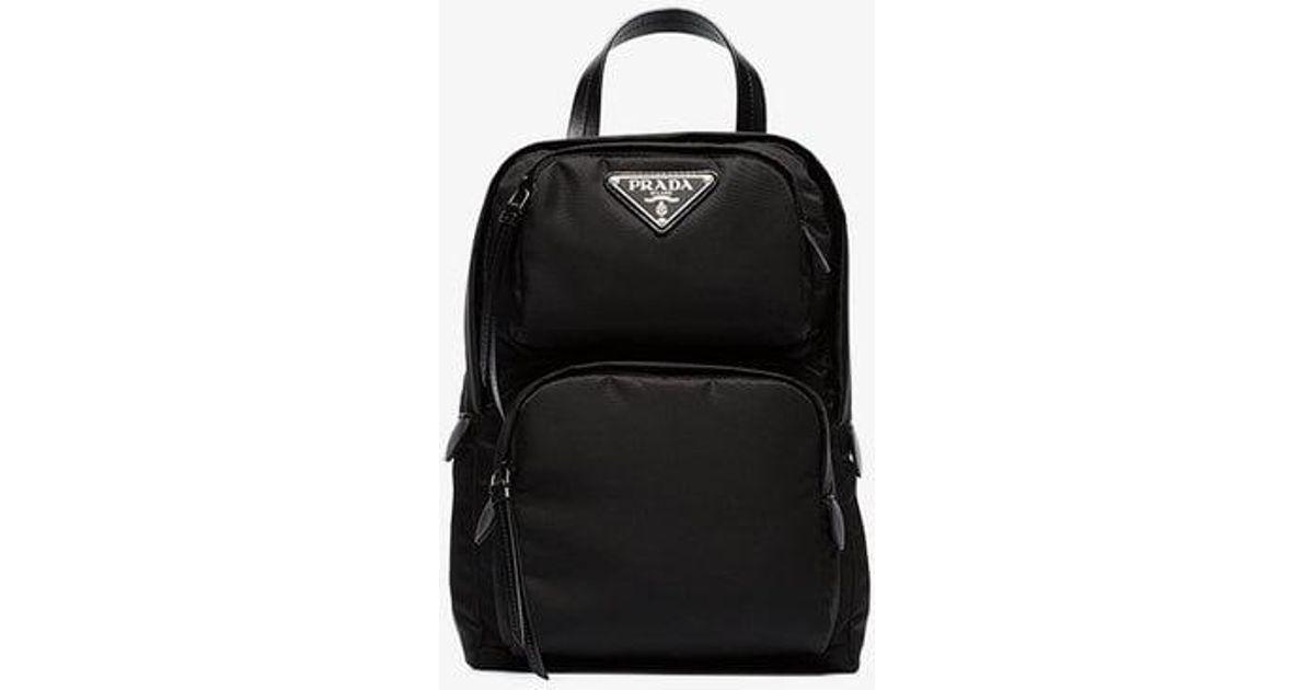 9b70f587e914 Prada One-shoulder Backpack in Black - Lyst
