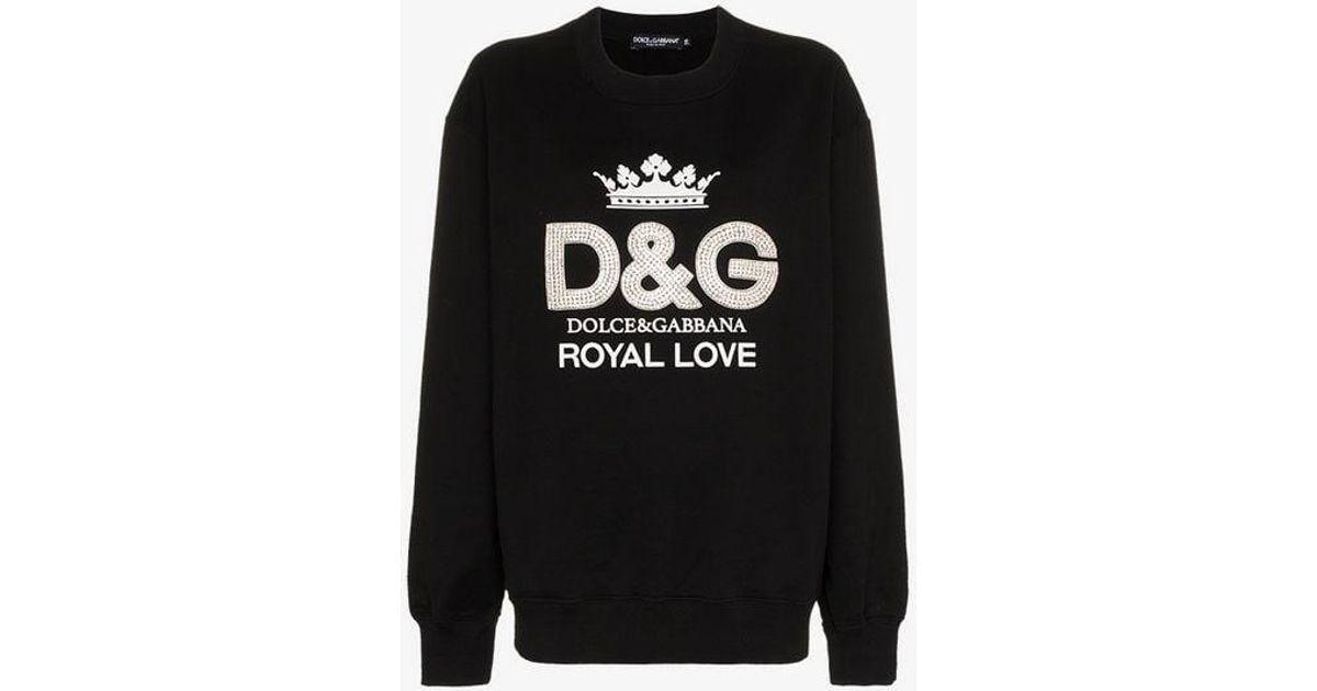 Dolce Print Black Gabbana Logo Crystal Jumper In Embellished amp; Lyst TdBYqT