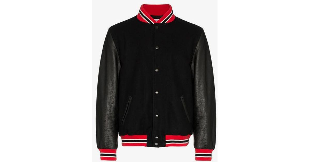 0050a9ae3 palm-angels-black-Logo-Print-Leather-Suede-Varsity-Jacket.jpeg