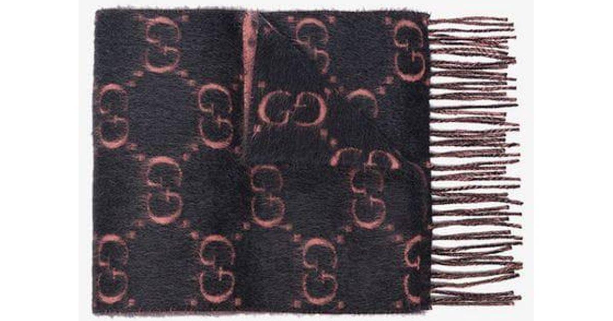 c252e7f20e Gucci Gray GG Alpaca Wool Scarf