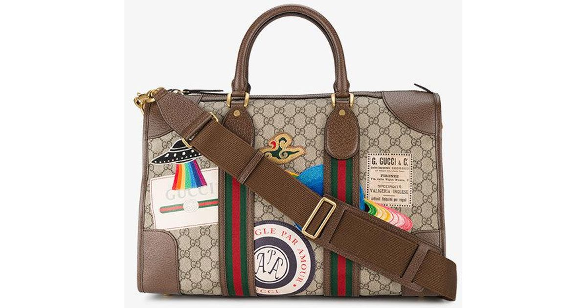 5a6b48dae76 Lyst - Gucci Courrier Gg Supreme Duffle Bag in Brown for Men